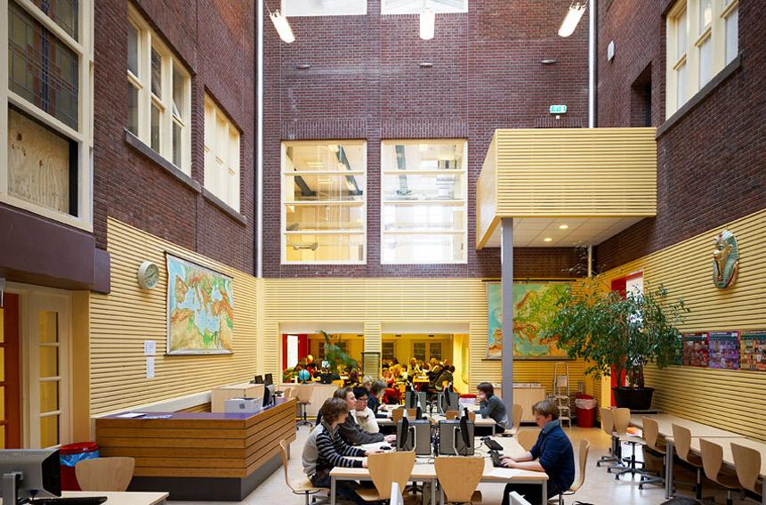 montessori college arnhem interieurarchitect onderwijs
